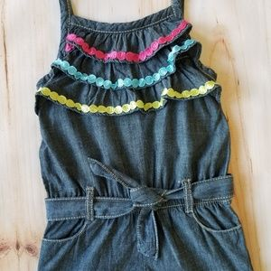 Gymboree Summer Chambray Layered Detail Romper